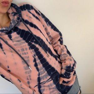 Reposh Karmen Pink and Navy Tie Dye Hoodie